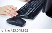 Купить «woman hands typing on computer keyboard at office», видеоролик № 23048862, снято 18 марта 2016 г. (c) Syda Productions / Фотобанк Лори