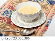 Купить «Геркулесовая каша. Полезный завтрак», эксклюзивное фото № 23060386, снято 9 июня 2016 г. (c) Яна Королёва / Фотобанк Лори
