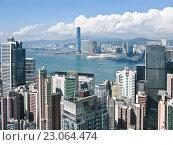 Купить «Городской пейзаж Гонконга», фото № 23064474, снято 10 ноября 2009 г. (c) Victoria Demidova / Фотобанк Лори