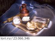 Деревенская еда. Стоковое фото, фотограф Sergey Borisov / Фотобанк Лори