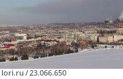 Купить «Экологическая проблема загрязнения окружающей среды и воздуха в крупных городах», видеоролик № 23066650, снято 7 февраля 2015 г. (c) Евгений Ткачёв / Фотобанк Лори