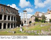Купить «Вид на Театр Марцелла (Teatro di Marcello) и Temple of Apollo Sosianus. Рим. Италия», фото № 23080086, снято 23 апреля 2016 г. (c) Екатерина Овсянникова / Фотобанк Лори