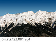Купить «Ski resort Rosa Khutor. Mountains of Krasnaya Polyana. Sochi, Russia», фото № 23081954, снято 10 февраля 2016 г. (c) Сергей Лаврентьев / Фотобанк Лори