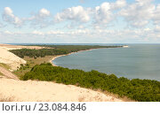 Купить «Красивый панорамный пейзаж. Куршская коса», эксклюзивное фото № 23084846, снято 12 июня 2016 г. (c) Svet / Фотобанк Лори