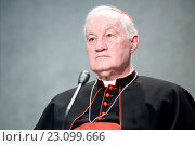 Cardinal Marc Ouellet P.S.S. Prefect of the Congregations for Bishops during the press conference, Vatican, Rome, ITALY-14-06-2016. Редакционное фото, фотограф Pierpaolo Scavuzzo / AGF/Pierpaolo Scavuzzo / AGF / age Fotostock / Фотобанк Лори