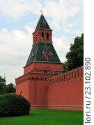 Купить «Тайницкая башня Московского Кремля», фото № 23102890, снято 24 сентября 2015 г. (c) Денис Ларкин / Фотобанк Лори