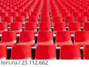 Купить «Трибуна с креслами на площади в Самаре», фото № 23112662, снято 11 мая 2016 г. (c) Акиньшин Владимир / Фотобанк Лори