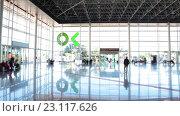 Купить «Интерьер автобусного вокзала в городе Санта Круз. Тенерифе, Канары, Испания», видеоролик № 23117626, снято 18 мая 2016 г. (c) Кекяляйнен Андрей / Фотобанк Лори