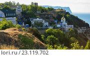 Купить «Свято-Георгиевский монастырь на мысе Фиолент», фото № 23119702, снято 9 июня 2016 г. (c) Юлия Машкова / Фотобанк Лори