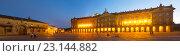 The Rajoy Palace (Palacio de Rajoy) in evening. Стоковое фото, фотограф Яков Филимонов / Фотобанк Лори