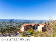 Купить «Панорама Сан Марино и Апеннинские горы. Вид на гору Монте-Титано», фото № 23146326, снято 6 ноября 2013 г. (c) Евгений Ткачёв / Фотобанк Лори
