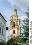 Колокольня Новоспасского монастыря в Москве (2016 год). Стоковое фото, фотограф Depth / Фотобанк Лори