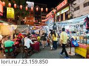 Купить «Evening Chinatown in Kuala Lumpur, Malaysia», фото № 23159850, снято 15 июня 2016 г. (c) Александр Подшивалов / Фотобанк Лори