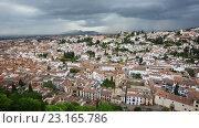 Купить «Top view of Granada», видеоролик № 23165786, снято 2 июня 2016 г. (c) Яков Филимонов / Фотобанк Лори