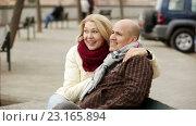 Купить «Portrait of elderly couple», видеоролик № 23165894, снято 3 марта 2016 г. (c) Яков Филимонов / Фотобанк Лори