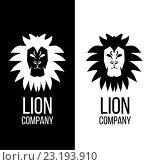 Львиная голова, векторный логотип. Стоковая иллюстрация, иллюстратор Алла Корниенко / Фотобанк Лори