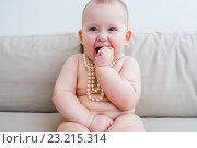 Купить «Маленькая девочка», фото № 23215314, снято 7 апреля 2016 г. (c) Кузнецов Дмитрий / Фотобанк Лори