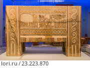 Купить «Hagia Triada sarcophagus in the Archeological Museum, Iraklio, Heraklion, Crete, Greece.», фото № 23223870, снято 10 мая 2016 г. (c) age Fotostock / Фотобанк Лори