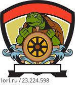 Купить «Черепаха за штурвалом», иллюстрация № 23224598 (c) Aloysius Patrimonio / Фотобанк Лори