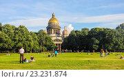 Купить «Исаакиевский собор в Санкт-Петербурге», фото № 23231874, снято 15 августа 2014 г. (c) Алексей Ларионов / Фотобанк Лори