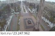 Купить «Square of Fallen Fighters in Volgograd, Russia», видеоролик № 23247962, снято 3 февраля 2016 г. (c) Данил Руденко / Фотобанк Лори