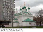 Купить «Москва. Церковь Симеона Столпника (Введения во храм Пресвятой Богородицы)», эксклюзивное фото № 23248870, снято 21 апреля 2016 г. (c) Svet / Фотобанк Лори