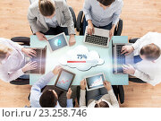 Купить «business team with computers cloud computing», фото № 23258746, снято 10 октября 2014 г. (c) Syda Productions / Фотобанк Лори
