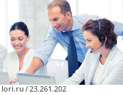 Купить «group of people working in call center», фото № 23261202, снято 9 июня 2013 г. (c) Syda Productions / Фотобанк Лори
