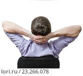 Бизнесмен сидит в кресле. Стоковое фото, фотограф Антон  Черственков / Фотобанк Лори