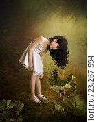 Девочка и маленький скрипач. Стоковая иллюстрация, иллюстратор Маргарита Нижарадзе / Фотобанк Лори