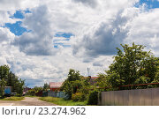 Пейзаж с облаками (2016 год). Стоковое фото, фотограф LenaLeonovich / Фотобанк Лори