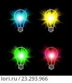 Купить «Яркие разноцветные лампы», иллюстрация № 23293966 (c) Dina / Фотобанк Лори