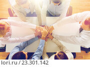 close up of business team with hands on top. Стоковое фото, фотограф Syda Productions / Фотобанк Лори