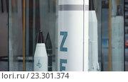 Купить «Модель базового двухступенчатого ракета-носителя среднего класса Зенит», видеоролик № 23301374, снято 19 марта 2019 г. (c) Потийко Сергей / Фотобанк Лори