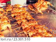 chicken grill at street market. Стоковое фото, фотограф Syda Productions / Фотобанк Лори