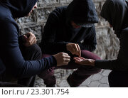Купить «close up of addicts using drug pills», фото № 23301754, снято 9 июня 2016 г. (c) Syda Productions / Фотобанк Лори