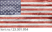Купить «american flag painted on wooden texture», фото № 23301954, снято 14 февраля 2014 г. (c) Syda Productions / Фотобанк Лори