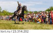 Купить «Девочка казачка скачет на лошади», фото № 23314202, снято 18 июня 2016 г. (c) Акиньшин Владимир / Фотобанк Лори