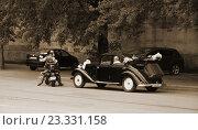 """""""Бентли"""" - свадебный ретроавтомобиль, фото № 23331158, снято 16 июля 2016 г. (c) Марина Шатерова / Фотобанк Лори"""