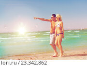 Купить «couple walking on the beach», фото № 23342862, снято 4 августа 2012 г. (c) Syda Productions / Фотобанк Лори