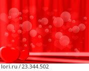 Купить «Свадебный красный фон с бликами и сердечками», иллюстрация № 23344502 (c) Николай Полыгалин / Фотобанк Лори