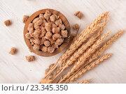 Отруби пшеничные. Стоковое фото, фотограф Антон Стариков / Фотобанк Лори