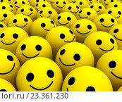 Желтые смайлы. Стоковая иллюстрация, иллюстратор Алексей Романенко / Фотобанк Лори