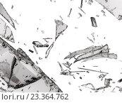 Купить «Осколки стекла на белом фоне», фото № 23364762, снято 4 июля 2020 г. (c) Арсений Герасименко / Фотобанк Лори