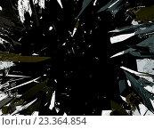 Купить «Осколки разбитого стекла на черном фоне», иллюстрация № 23364854 (c) Арсений Герасименко / Фотобанк Лори