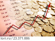 Купить «Куча монет, счета и графики», иллюстрация № 23371886 (c) Александр Калугин / Фотобанк Лори