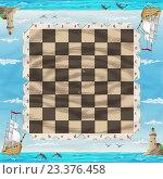 Шахматная доска. Стоковая иллюстрация, иллюстратор Кухаренко Ефим / Фотобанк Лори