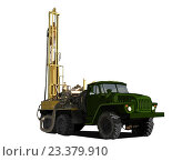 Купить «Машина с оборудованием для бурения», иллюстрация № 23379910 (c) Веснинов Янис / Фотобанк Лори