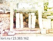 Купить «neolithic Tarxien temples (3000 B.C.)», фото № 23383162, снято 15 декабря 2010 г. (c) Яков Филимонов / Фотобанк Лори