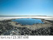 Купить «Озеро Соленое.Таманский полуостров», фото № 23387698, снято 13 июля 2016 г. (c) Виталий Куликов / Фотобанк Лори
